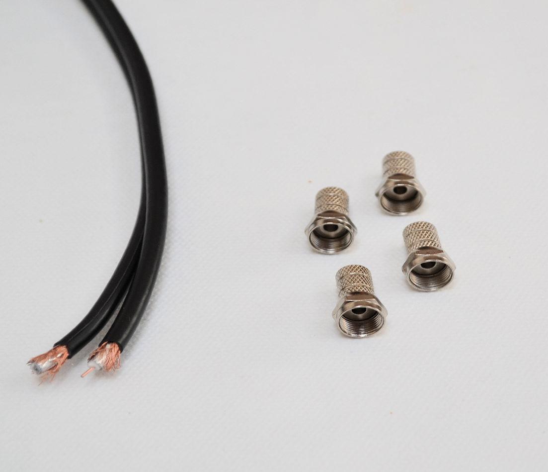 przewód antenowy do montażu anteny satelitarnej